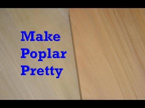 Removing Green From Poplar | Making Poplar Look Pretty
