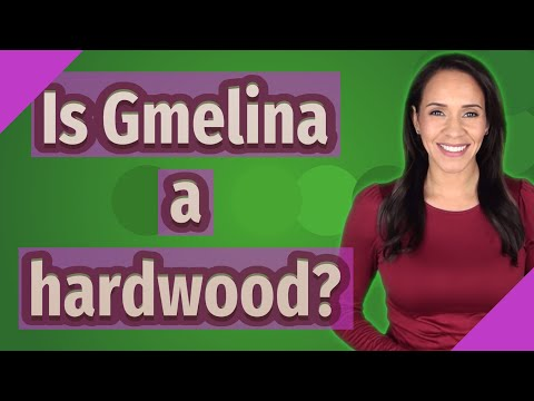 Is Gmelina a hardwood?