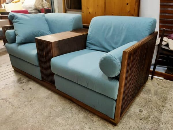 Lorenzo Fabric sofa with Wooden frame