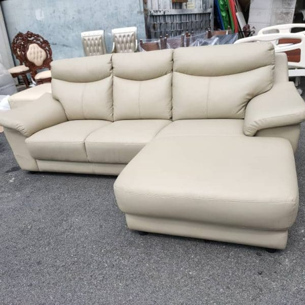 Lorenzo Leather L shape Sofa