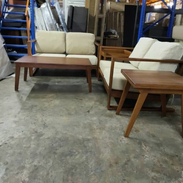 Lorenzo teak wood sofa set