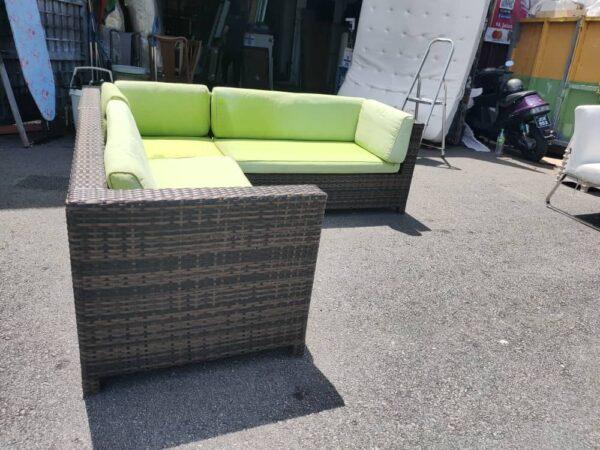 Outdoor L Shape Rattan Sofa