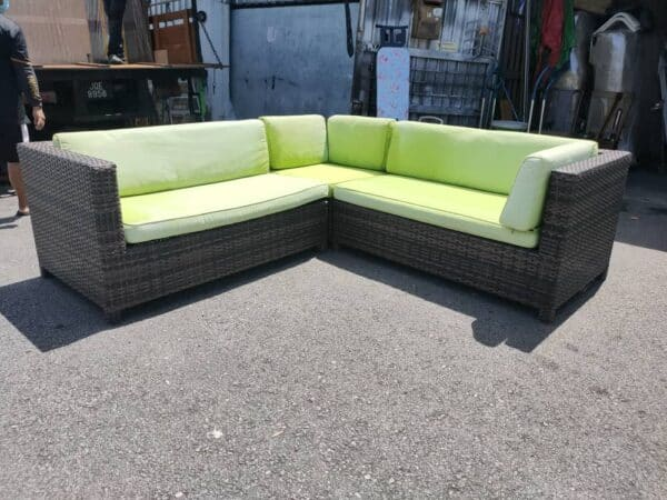 Outdoor L Shape Synthetic Rattan Sofa