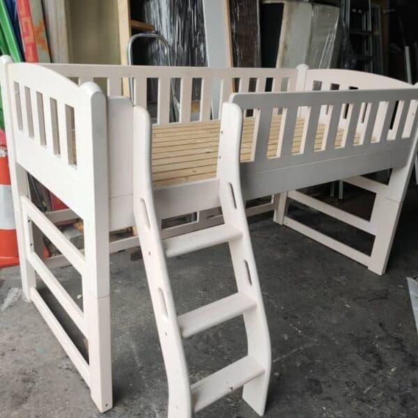 pine wood single bed frame
