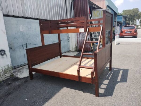 solid wood bunk bed frame