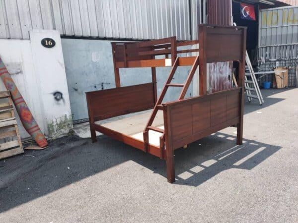 wooden bunk bed frame
