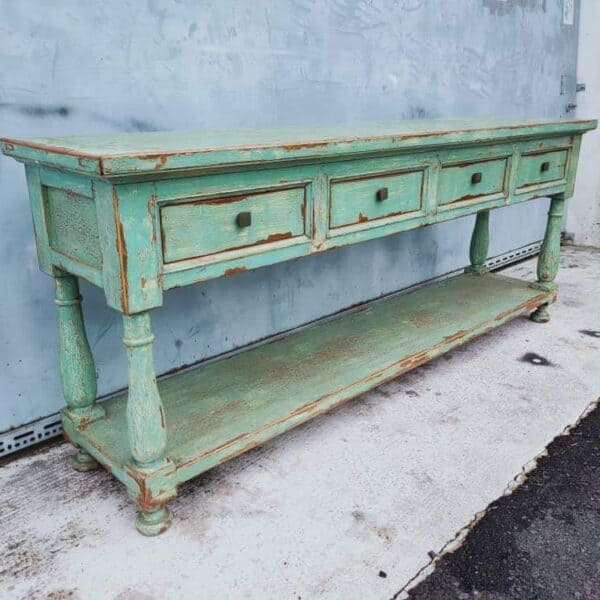 Elmwood Chinese Oriental Sideboard with drawers