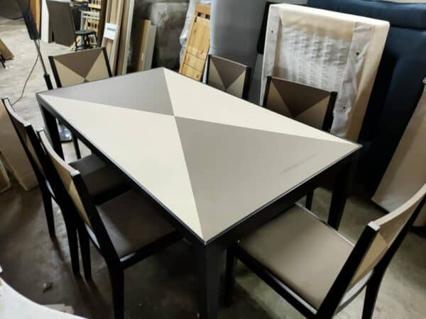 Lorenzo Dining Table with Six Chairs