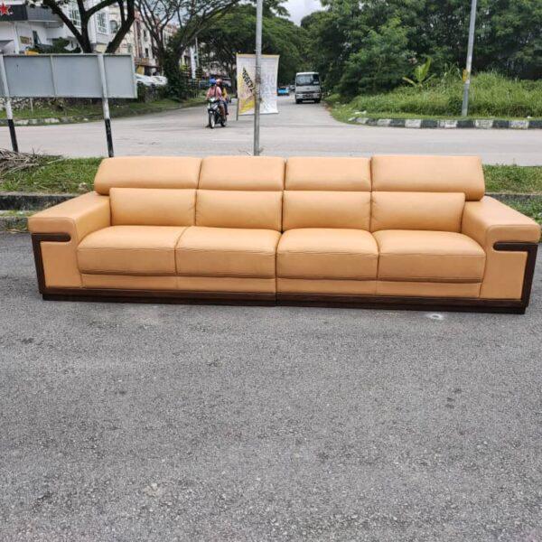 Lorenzo Four Seater Leather Sofa