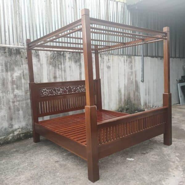 4 poster teak wood king bed frame