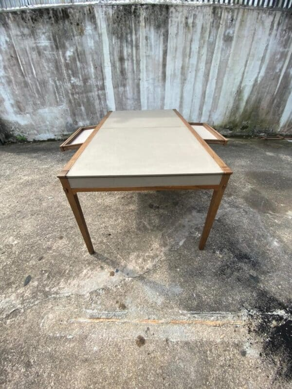 Lorenzo oakwood dining table with drawers from both side