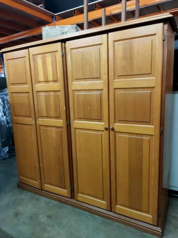 Solid Wood four doors wardrobe
