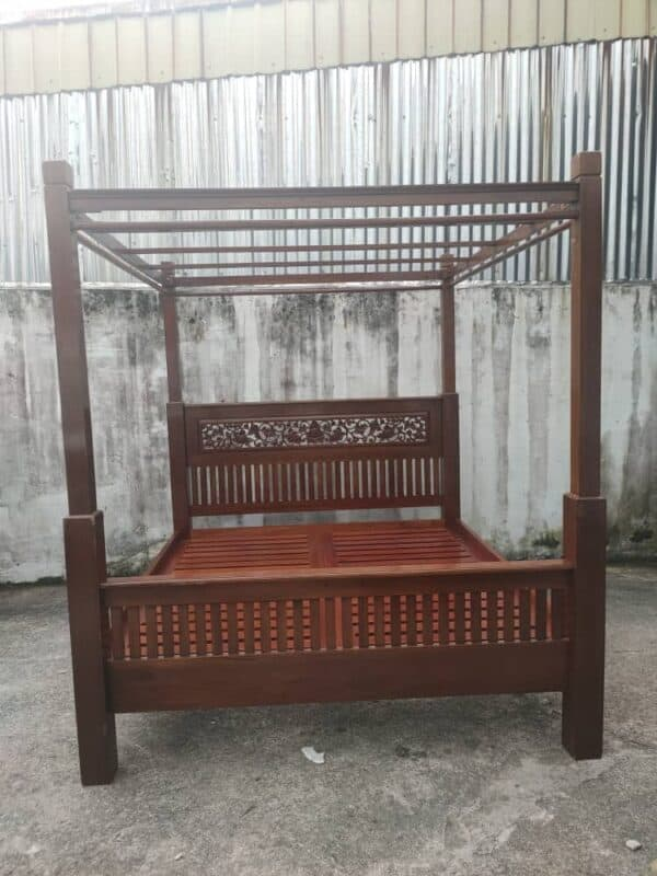 king bed frame with 4 poster