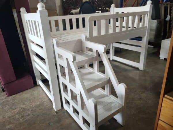 solid wood loft bed frame