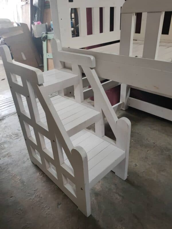 solid wood loft bed frame stair