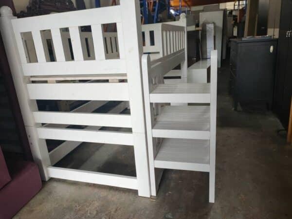solid wood low loft bed frame