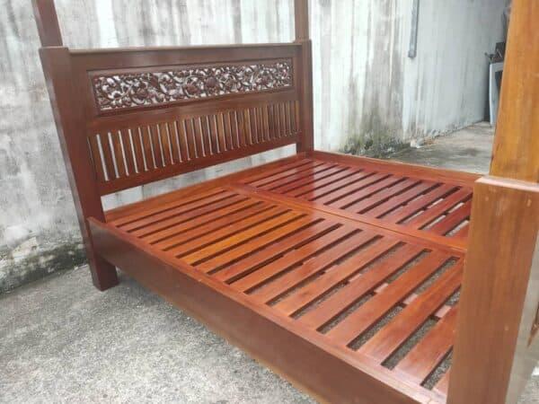 teak wood king bed 4 poster