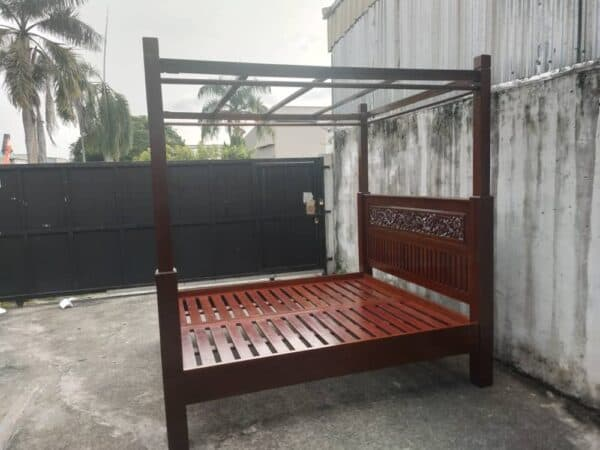 teak wood king bed frame with 4 poster