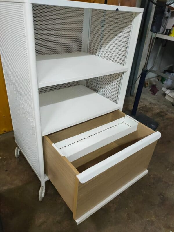 IKEA Bekant Storage Unit with Trolley second hand