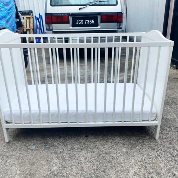 IKEA SMAGORA BABY COT WITH MATTRESS