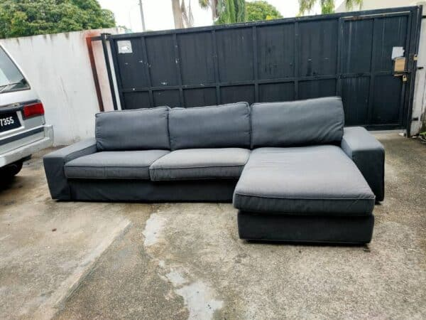 IKEA KIVIK TWO SEATER WITH CHAISE LOUNGE