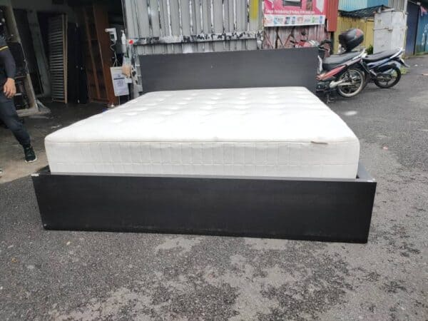 IKEA MALM KING BED FRAME WITH HOKKASEN MATTRESS