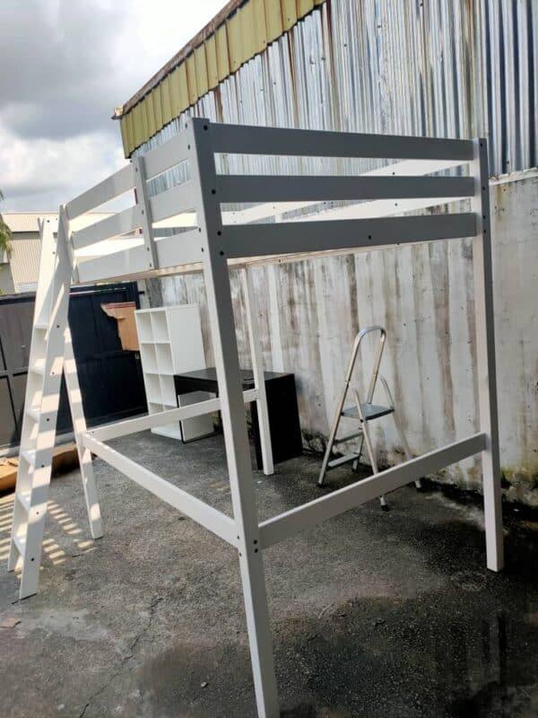IKEA STORA QUEEN LOFT BED IN WHITE