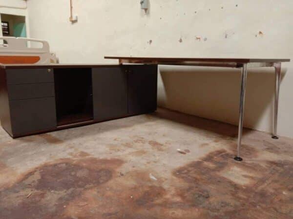 OFFICE L Shape table cum cabinet