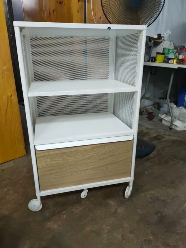 Second Hand IKEA Bekant Storage Unit with Trolley