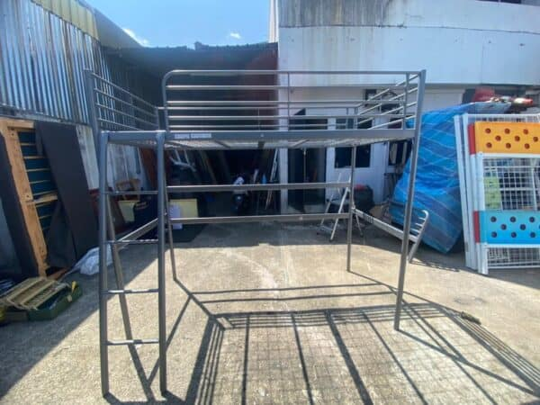 Svarta Loft Bed Single metal Bed Frame