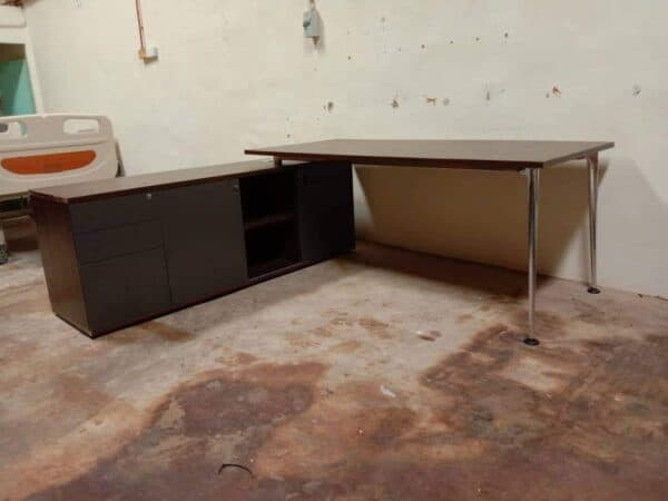 office table with cabinet