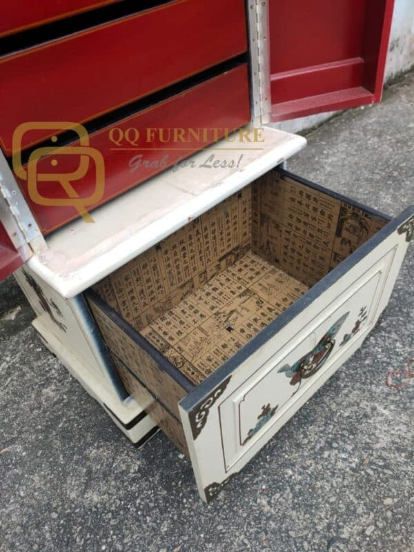 Chinese Oriental Wedding Cabinet with drawers