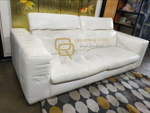 Kelvin Giormani Genuine Leather 3 seater sofa with adjustable headrest