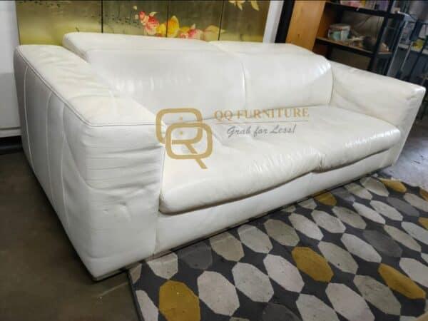 Kelvin Giormani Luxury Genuine Leather 3 seater sofa