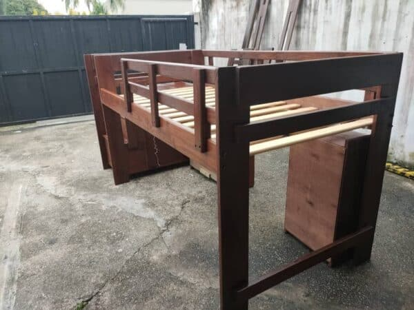 Loft Bed Single Bed Frame with Storage