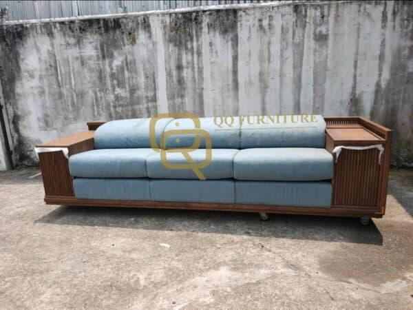 Lorenzo sofa 3 seater oakwood frame