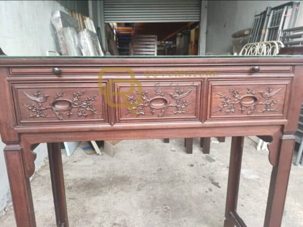 Rosewood Altar Table and Drawers