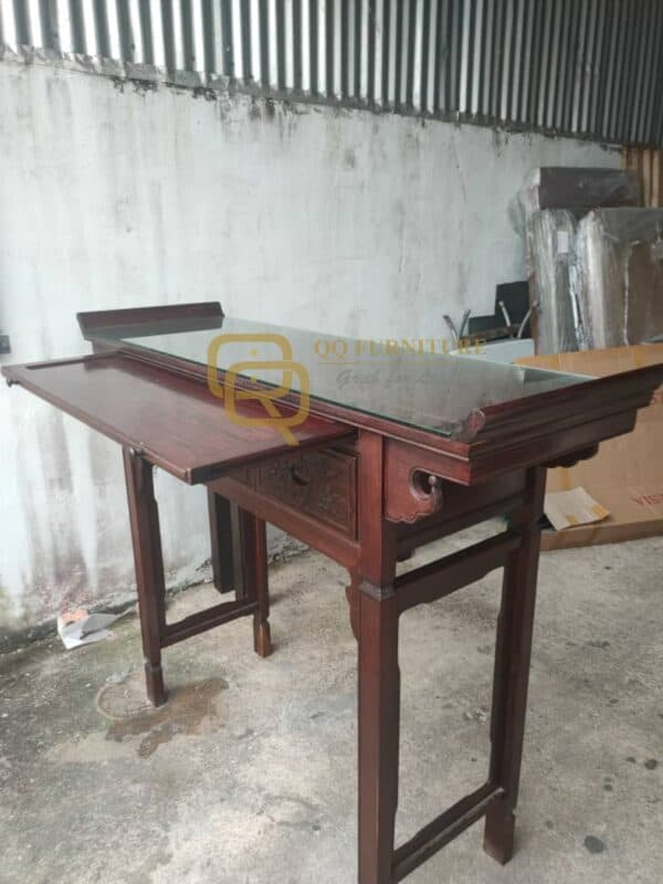 Rosewood Altar Table cum pull out table