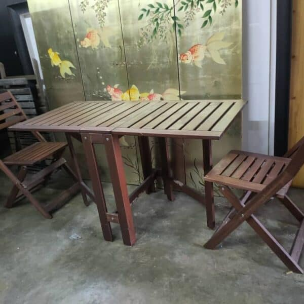 ikea applaro outdoor drop-leaf table and 2 chair