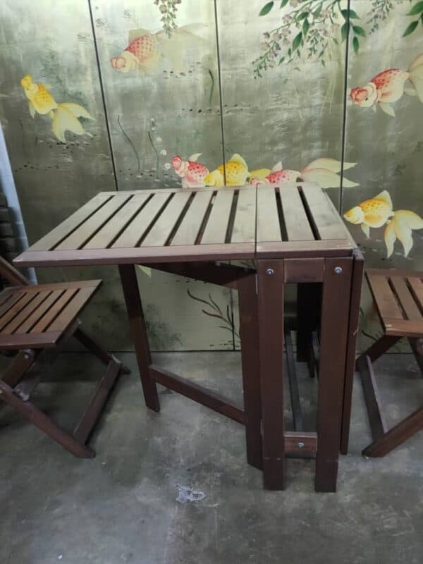 ikea applaro outdoor drop-leaf table and chair set