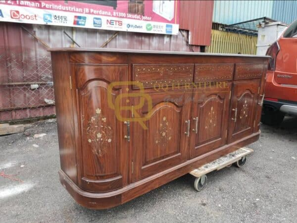 rosewood cabinet brass inlay good quality