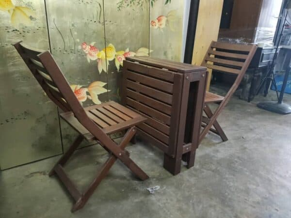 second hand ikea outdoor table and chair