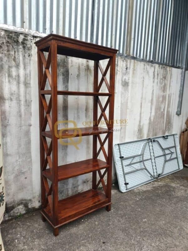 second hand teak wood bookshelf