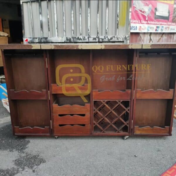 wine cabinet cum bar table